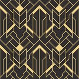 Abstract art deco seamless pattern 02. Vector modern geometric tiles pattern. golden lined shape. Abstract art deco seamless luxury background vector illustration