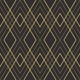 Abstract art deco seamless pattern 21. Vector modern geometric tiles pattern. golden lined shape. Abstract art deco seamless luxury background royalty free illustration