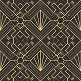Abstract art deco seamless pattern 22. Vector modern geometric tiles pattern. golden lined shape. Abstract art deco seamless luxury background vector illustration