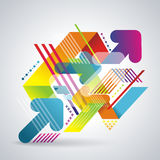 Vector modern geometrical background Royalty Free Stock Image