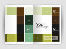 Vector modern geometrical a4 flyer brochure template Royalty Free Stock Images