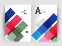 Vector modern geometrical a4 flyer brochure template. Annual report print template with infographics abc options Royalty Free Stock Photography
