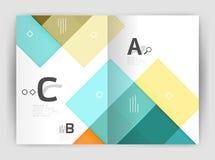 Vector modern geometrical a4 flyer brochure template Royalty Free Stock Photo