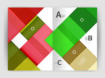Vector modern geometrical a4 flyer brochure template. Annual report print template with infographics abc options Stock Photography