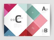 Vector modern geometrical a4 flyer brochure template Stock Photos