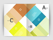 Vector modern geometrical a4 flyer brochure template Stock Images