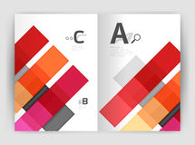 Vector modern geometrical a4 flyer brochure template. Annual report print template with infographics abc options Stock Photo