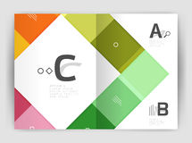 Vector modern geometrical a4 flyer brochure template Royalty Free Stock Photography