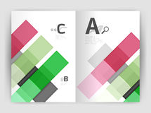 Vector modern geometrical a4 flyer brochure template Stock Image