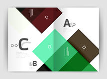 Vector modern geometrical a4 flyer brochure template Stock Photo