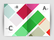 Vector modern geometrical a4 flyer brochure template Stock Photography