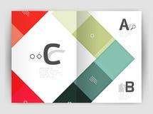 Vector modern geometrical a4 flyer brochure template Royalty Free Stock Photos