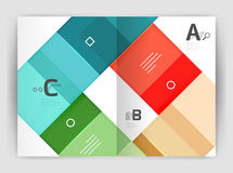 Vector modern geometrical a4 flyer brochure template Royalty Free Stock Image