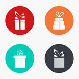 Vector modern gift colorful icons set Stock Images