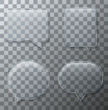 Vector modern glass bubble speech set royalty free illustration