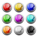 Vector modern glossy icons, samples. Modern glossy buttons in vector and royalty free illustration
