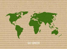 Vector modern go green background. Stock Photography