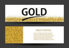Vector modern gold glitter abstract background Royalty Free Stock Photography