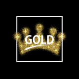Vector modern gold glitter abstract background. Design Royalty Free Illustration