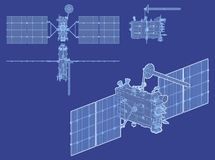 Vector modern GPS satellite  Stock Photography