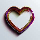 Vector modern heart background. Royalty Free Stock Image