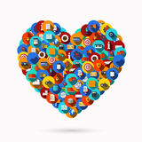 Vector modern heart icons set Stock Photos