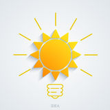Vector modern idea with sun background Royalty Free Stock Photos