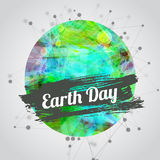 Vector modern illustration for earth day with Royalty Free Stock Images