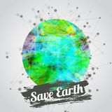 Vector modern illustration for earth day with Stock Images