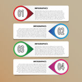 Vector modern infographics template Royalty Free Stock Images