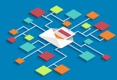 Vector modern isometric email marketing background Royalty Free Stock Image