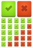 Vector modern ja en geen geplaatste pictogrammen Royalty-vrije Stock Foto's