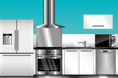 Vector modern kitchen Royalty Free Stock Photo