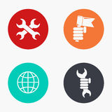 Vector modern labour day colorful icons set Stock Photography