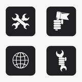 Vector modern labour day  icons set Royalty Free Stock Photo