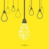 Vector modern light bulb background Stock Photos