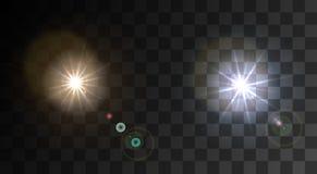 Vector modern light flash on sample background Stock Image