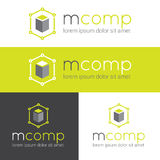 Vector modern logo for web studio or finance. Company set Royalty Free Stock Images