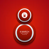 Vector modern 8 march background. Womens day. Banner. Eps10 royalty free illustration