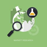 Vector modern market research concept illustration Stock Image