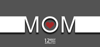 Vector modern 12 may mothers day background. royalty free illustration