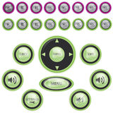 Vector Modern Media Player Button Set. Vector Modern Glossy Media Player Button Set Royalty Free Stock Photo