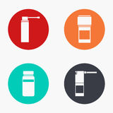 Vector modern medical kit colorful icons set. On white background Royalty Free Stock Image