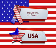 Vector modern memorial day banners Stock Photo