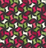 Vector modern naadloos kleurrijk meetkunde bloemenpatroon, kleurensamenvatting royalty-vrije illustratie