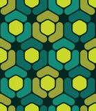 Vector modern naadloos kleurrijk meetkunde hexagon patroon, kleurensamenvatting Stock Afbeeldingen