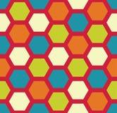 Vector modern naadloos kleurrijk meetkunde hexagon patroon, kleurensamenvatting Stock Foto's