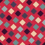 Vector modern naadloos kleurrijk meetkunde vierkant patroon, kleurensamenvatting Stock Foto