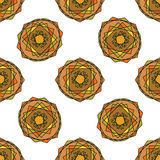 Vector modern naadloos kleurrijk meetkundepatroon, kleuren abstracte geometrische achtergrond, hoofdkussen multicolored druk Stock Foto's