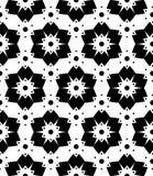 Vector modern naadloos meetkundepatroon, zwart-witte samenvatting Stock Afbeelding